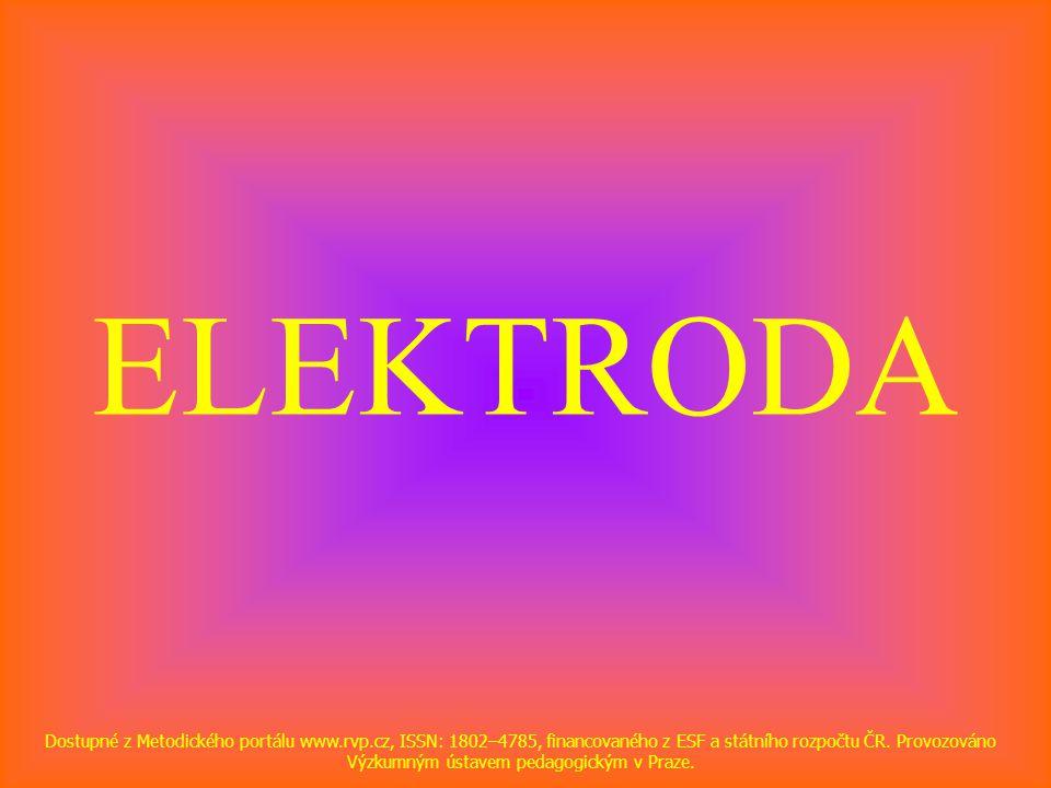 ELEKTRODA Dostupné z Metodického portálu www.rvp.cz, ISSN: 1802–4785, financovaného z ESF a státního rozpočtu ČR. Provozováno Výzkumným ústavem pedago