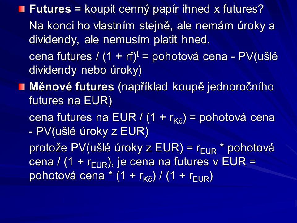 Futures = koupit cenný papír ihned x futures.