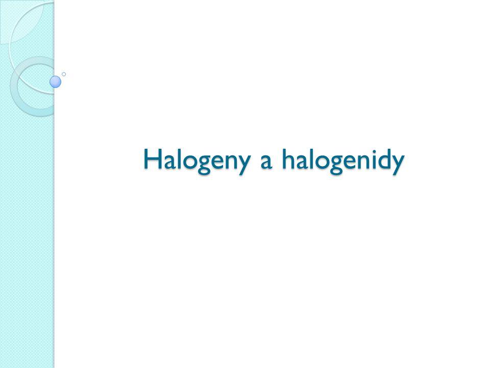 Halogeny a halogenidy