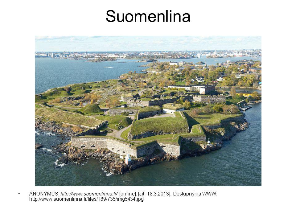 Suomenlina ANONYMUS. http://www.suomenlinna.fi/ [online]. [cit. 18.3.2013]. Dostupný na WWW: http://www.suomenlinna.fi/files/189/735/img5434.jpg