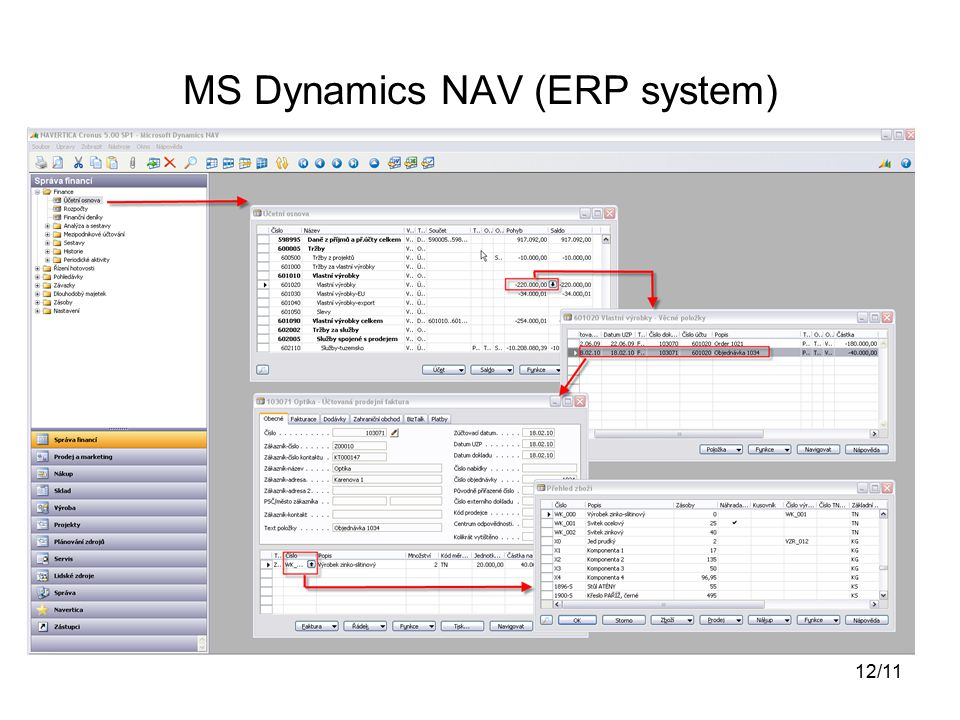 MS Dynamics NAV (ERP system) 12/11