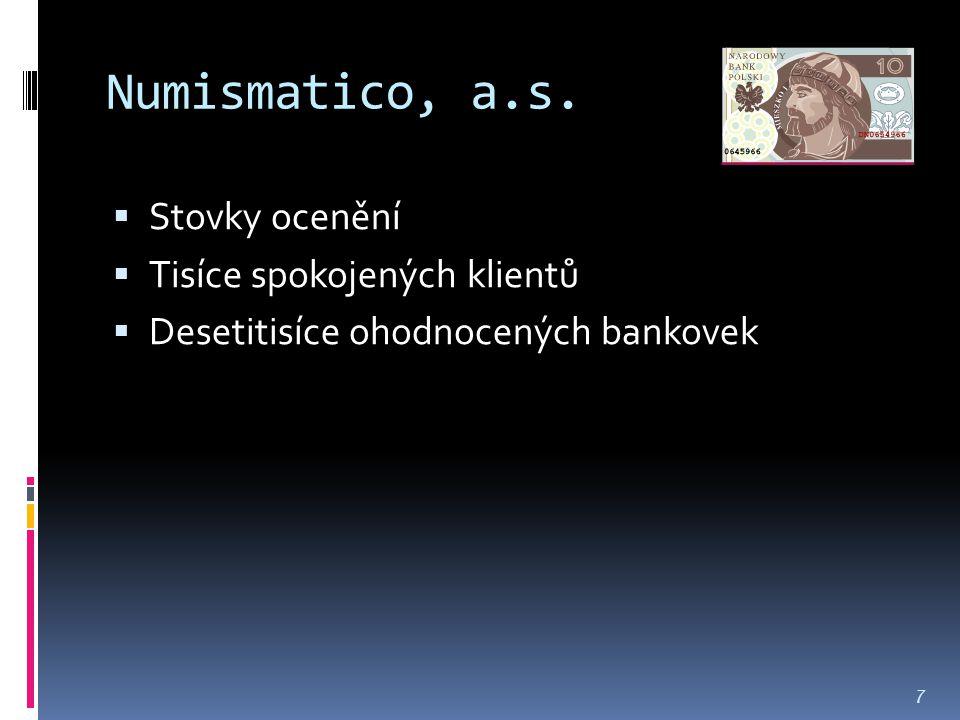Numismatico, a.s.