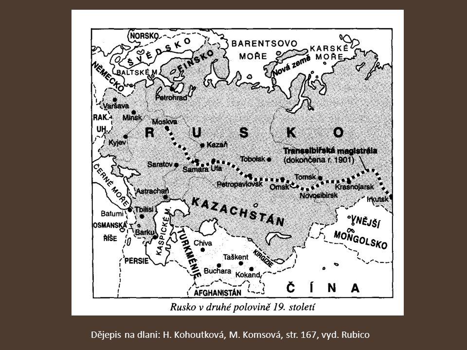 Dějepis na dlani: H. Kohoutková, M. Komsová, str. 167, vyd. Rubico