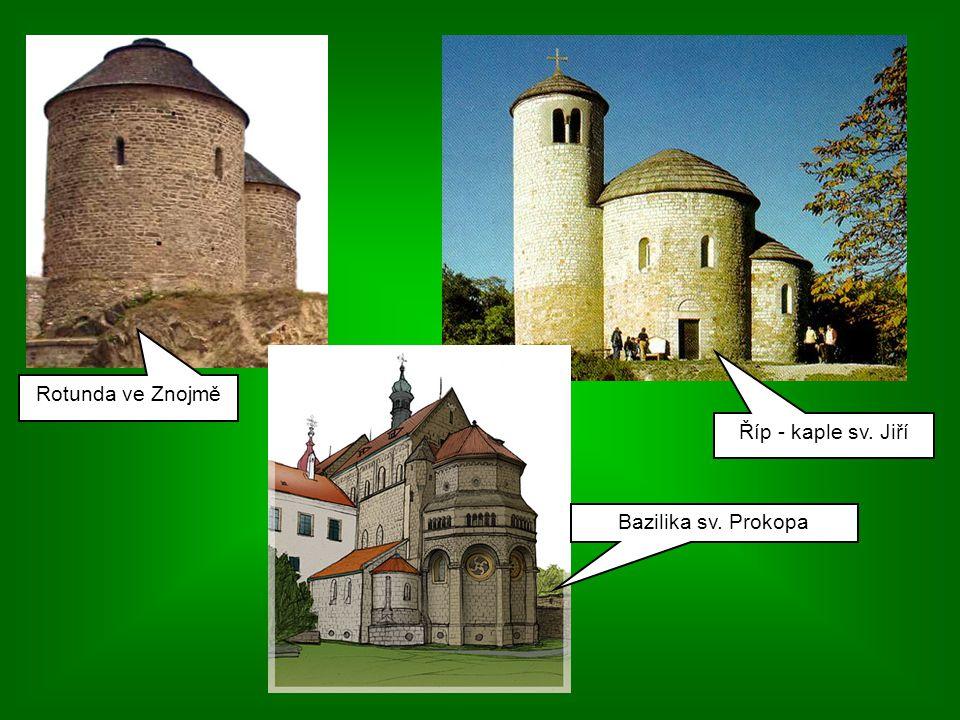 Rotunda ve Znojmě Říp - kaple sv. Jiří Bazilika sv. Prokopa