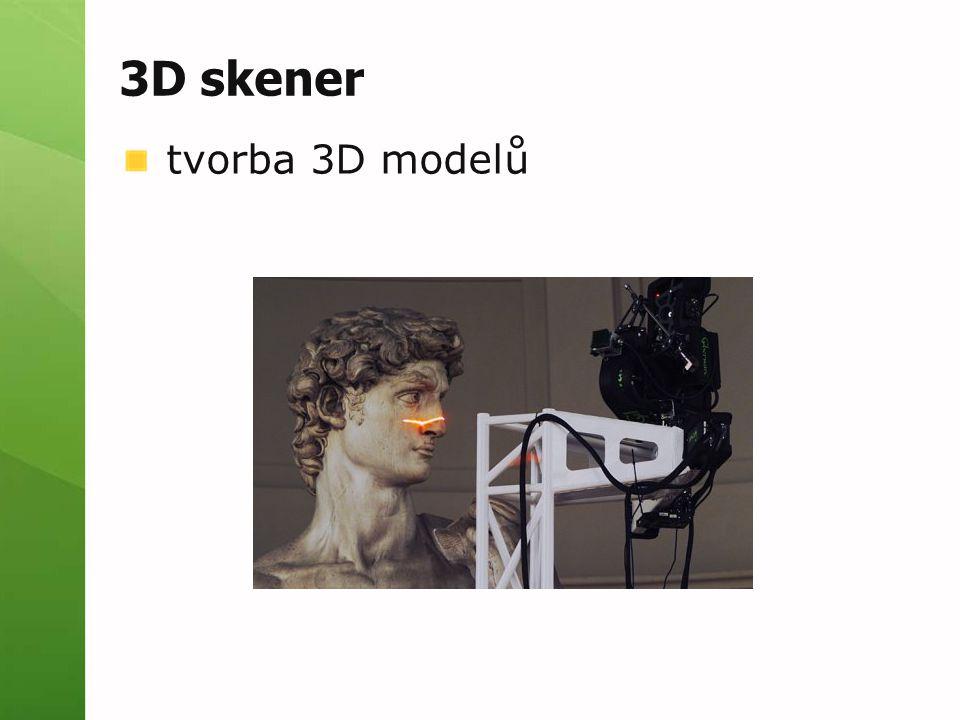 3D skener tvorba 3D modelů