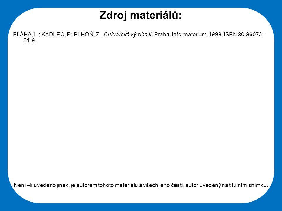 Střední škola Oselce Zdroj materiálů: BLÁHA, L.; KADLEC, F.; PLHOŇ, Z.. Cukrářská výroba II. Praha: Informatorium, 1998, ISBN 80-86073- 31-9. Není –li