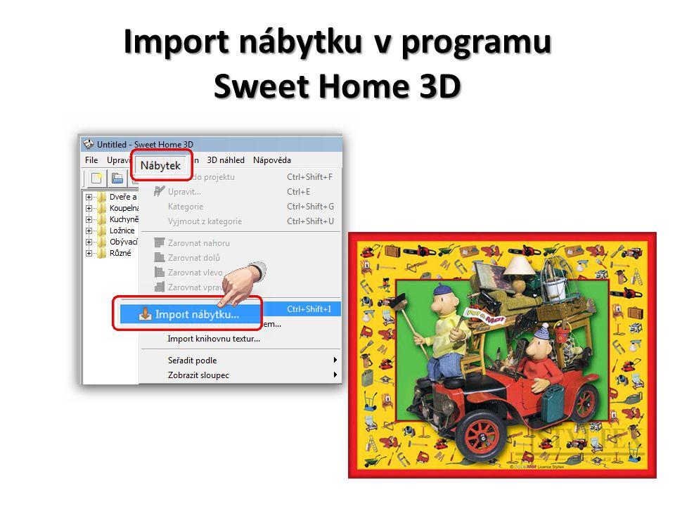 Import nábytku v programu Sweet Home 3D