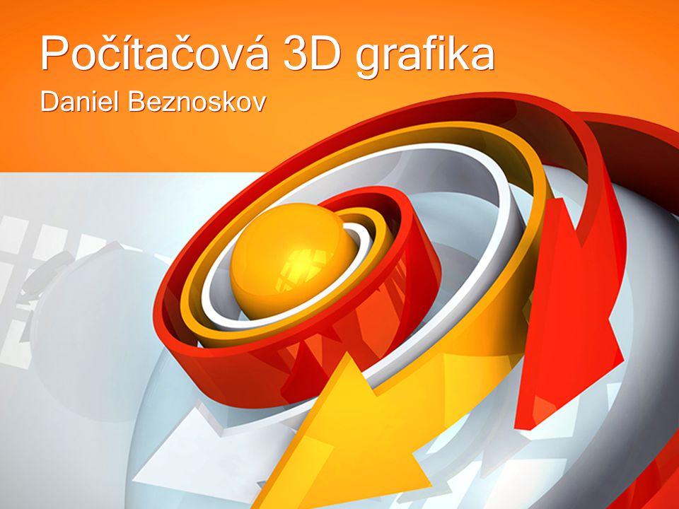 Úvod Počítačová 3D grafika je označení práci s trojrozměrnými objekty.