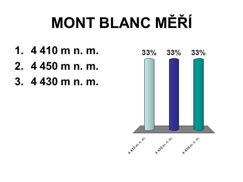 MONT BLANC MĚŘÍ 1.4 410 m n. m. 2.4 450 m n. m. 3.4 430 m n. m.