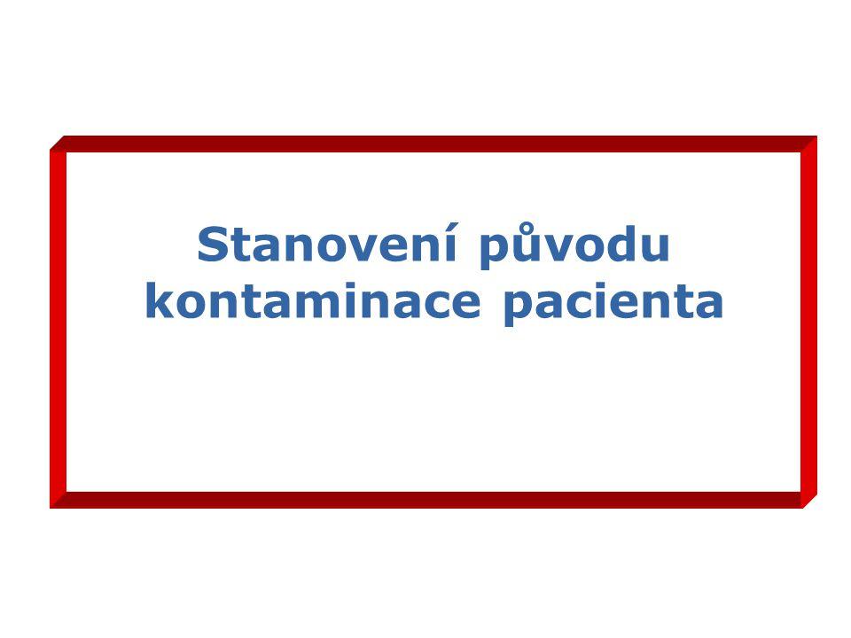 Stanovení původu kontaminace pacienta