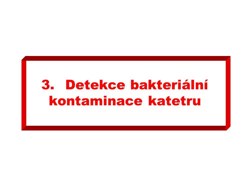 3.Detekce bakteriální kontaminace katetru