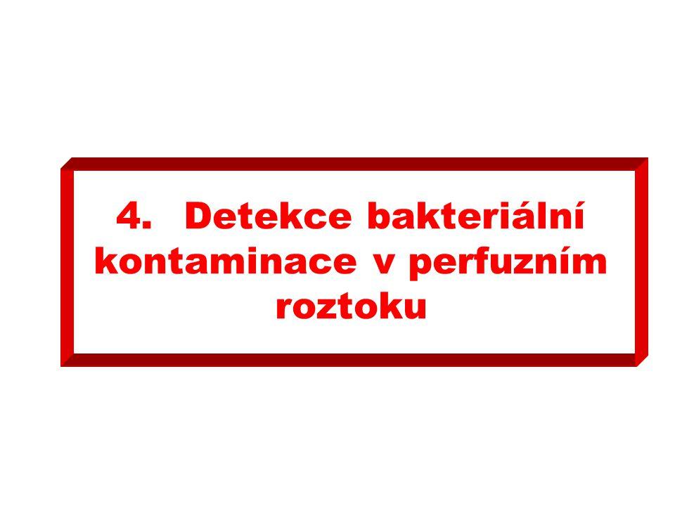 4.Detekce bakteriální kontaminace v perfuzním roztoku