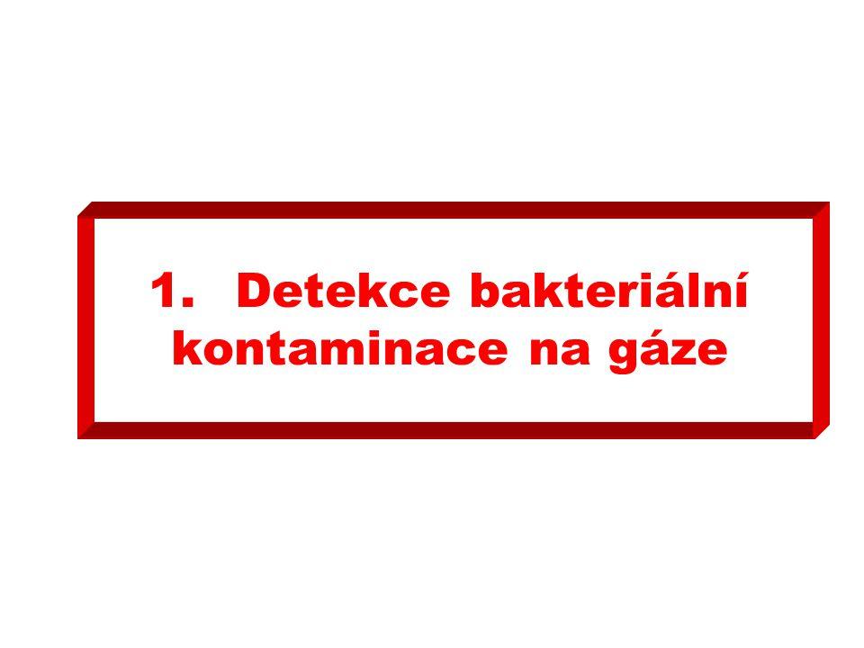 1.Detekce bakteriální kontaminace na gáze