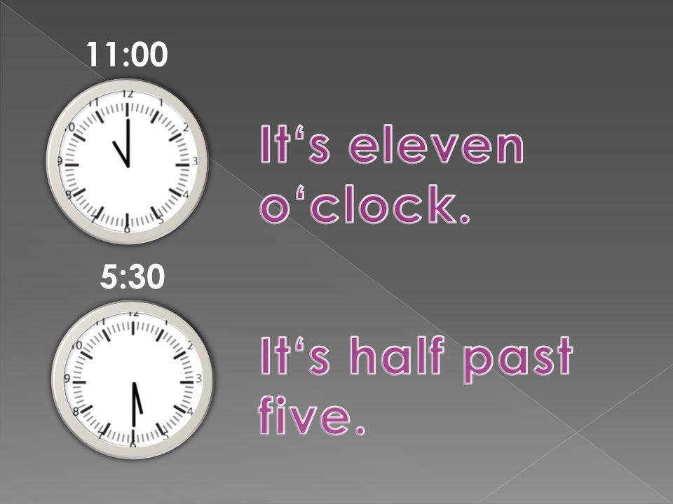 12:15 8:00 2:45 6:30