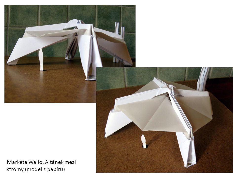 Markéta Wallo, architektonická studie, papírový návrh