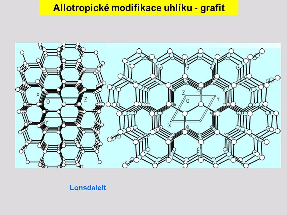 Lonsdaleit Allotropické modifikace uhlíku - grafit