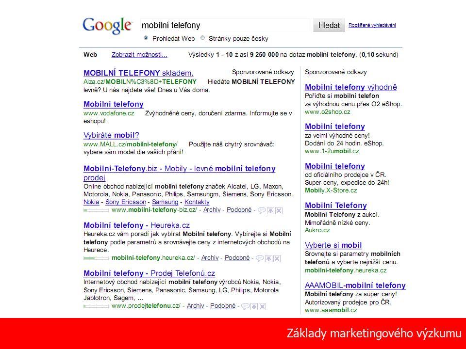 13 Základy marketingového výzkumu