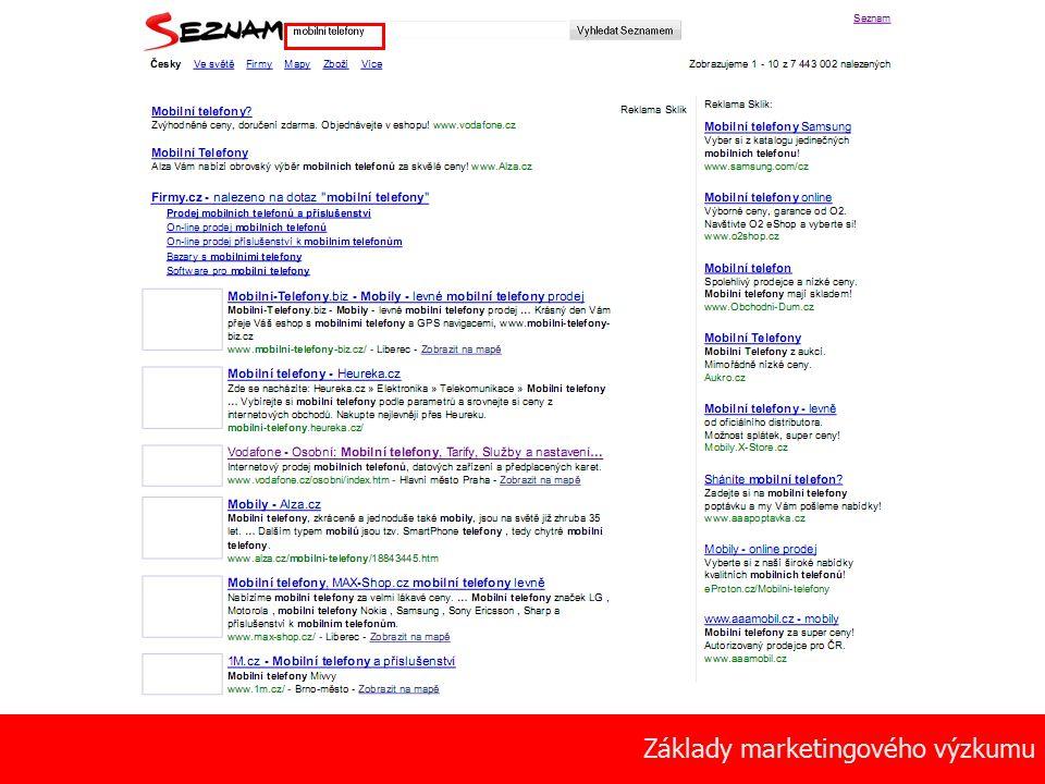 9 Základy marketingového výzkumu