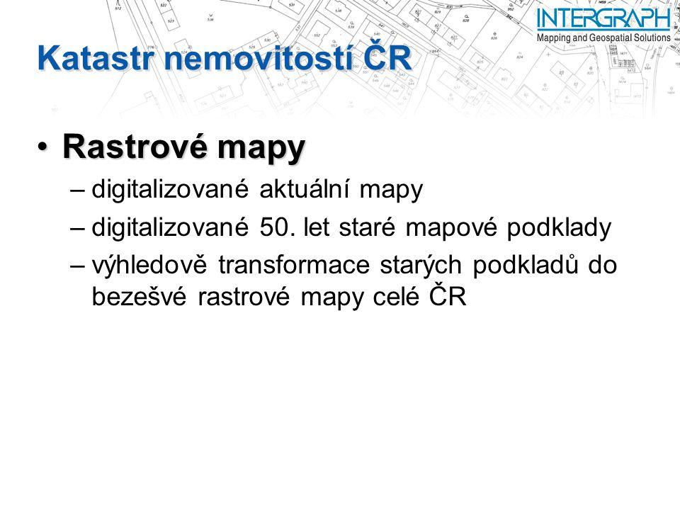 Katastr nemovitostí ČR Rastrové mapyRastrové mapy –digitalizované aktuální mapy –digitalizované 50.