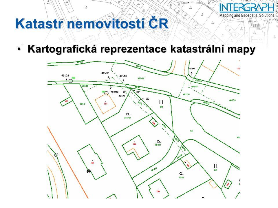 Katastr nemovitostí ČR Kartografická reprezentace katastrální mapyKartografická reprezentace katastrální mapy