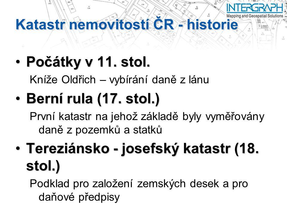 Katastr nemovitostí ČR - historie Počátky v 11.stol.Počátky v 11.