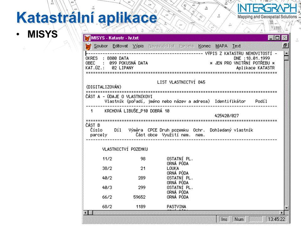 Katastrální aplikace MISYS