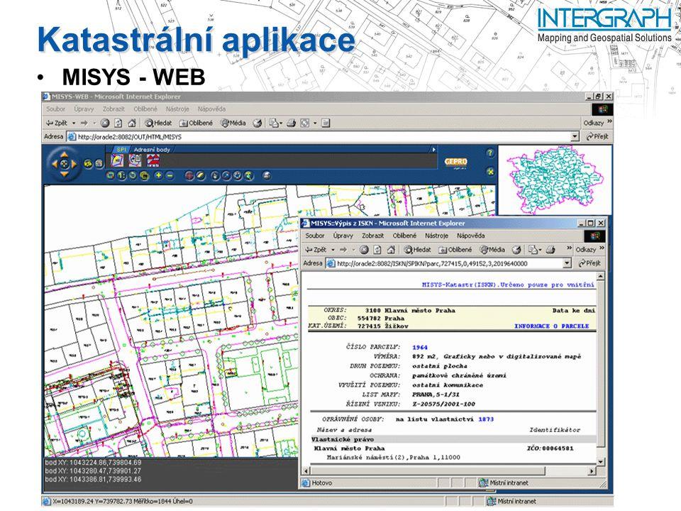 Katastrální aplikace MISYS - WEB