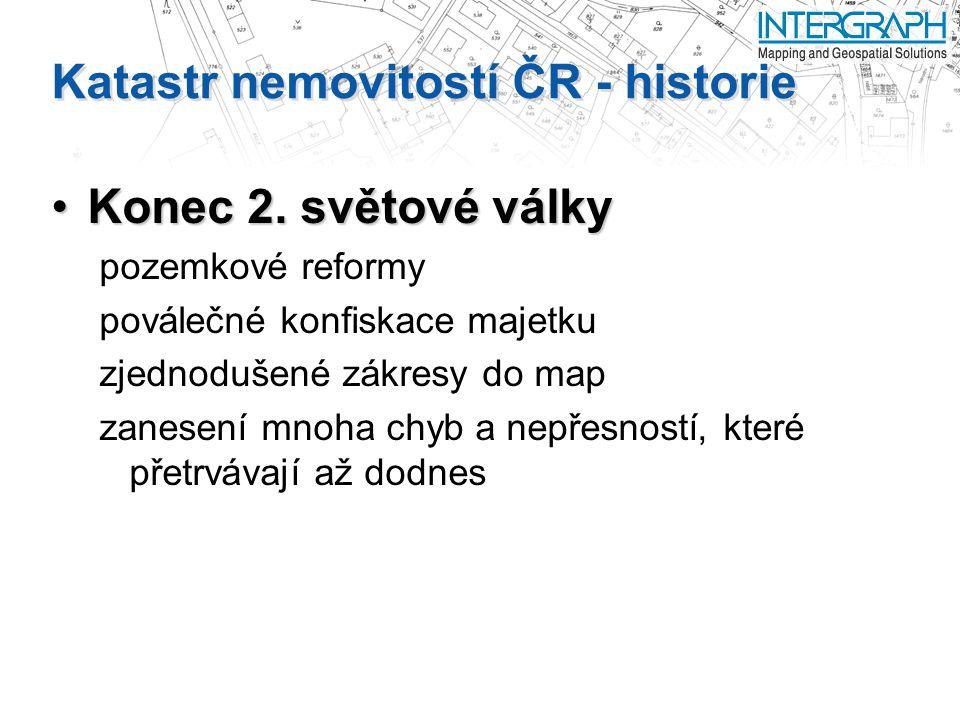 Katastr nemovitostí ČR - historie Konec 2.světové válkyKonec 2.