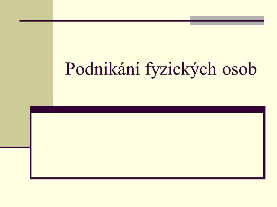Čs. Statist. úřad zpracoval v roce 2007 studii: Charakteristika podnikatele v ČR