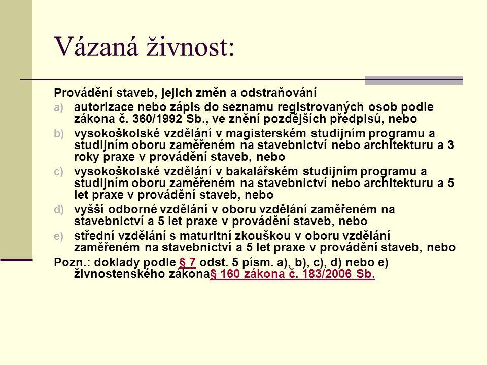 Příloha č. 3 k zákonu č. 455/1991 Sb. Koncesované živnosti Provozování pohřební služby Taxisluža