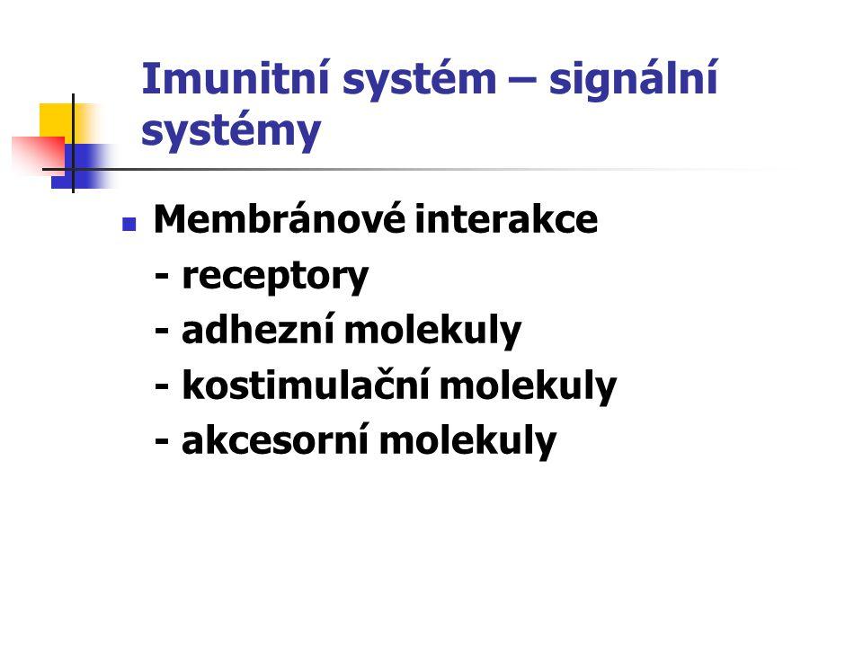 Hráči v přenosu signálu Imunokompetentní buňky Trombocyty, erytrocyty Endotelové buňky Epitelové buňky Keratinocyty, fibroblasty Buňky nervové a endokrinní soustavy Molekuly mezibuněčné hmoty