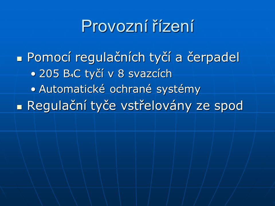 Provozní řízení Pomocí regulačních tyčí a čerpadel Pomocí regulačních tyčí a čerpadel 205 B 4 C tyčí v 8 svazcích205 B 4 C tyčí v 8 svazcích Automatic