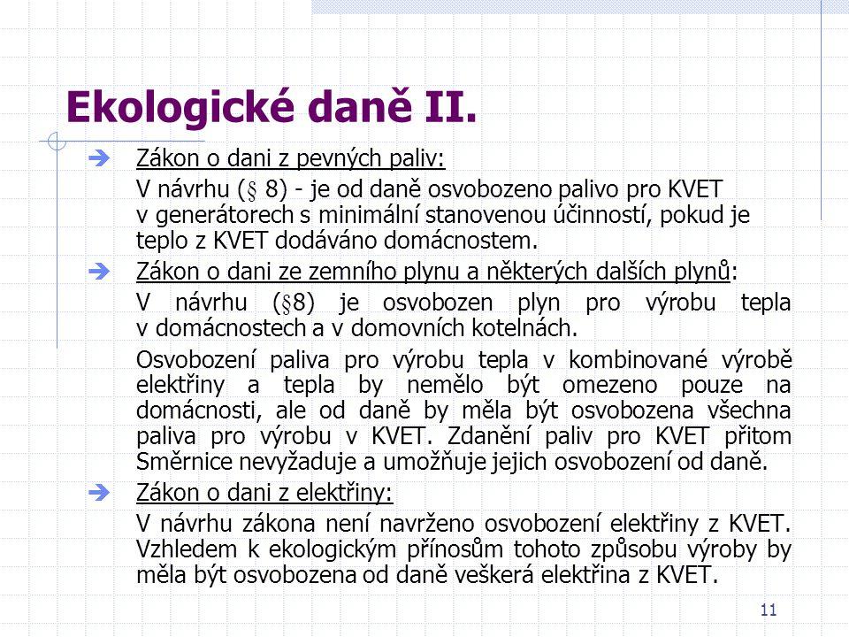 11 Ekologické daně II.