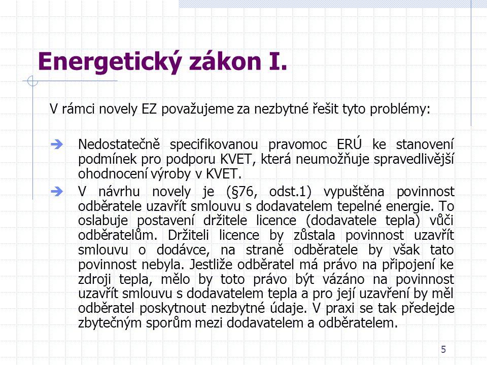 5 Energetický zákon I.