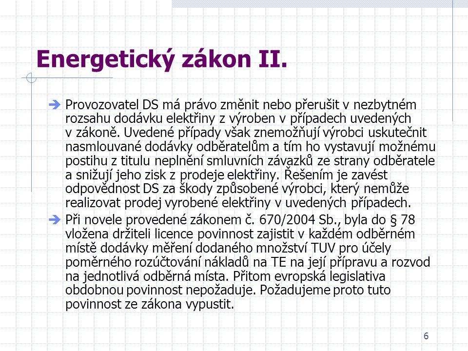 6 Energetický zákon II.