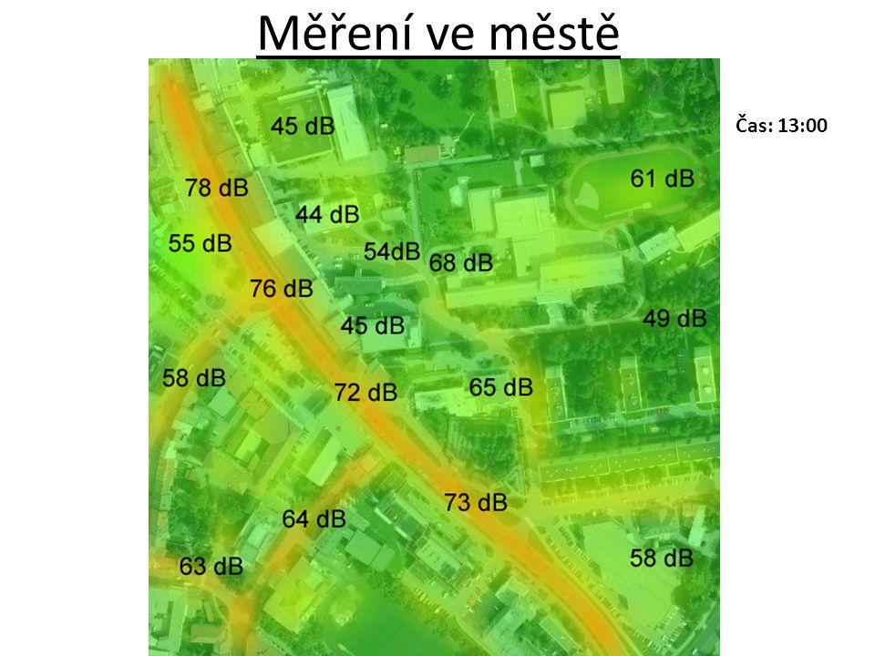 Měření ve městě Čas: 13:00