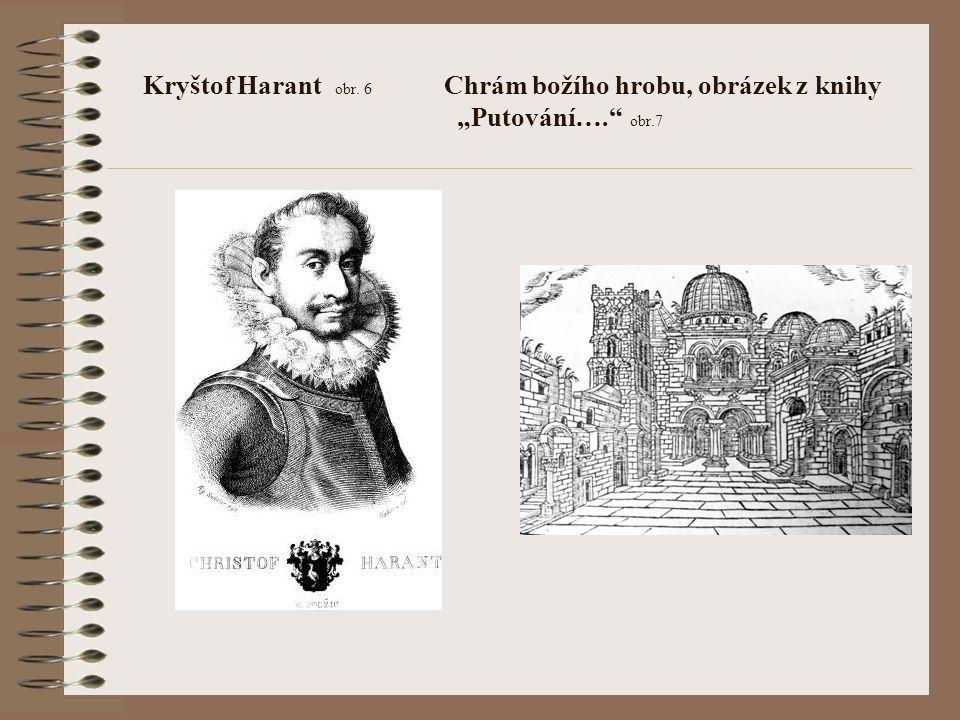 """Kryštof Harant obr. 6 Chrám božího hrobu, obrázek z knihy """"Putování…."""" obr.7"""