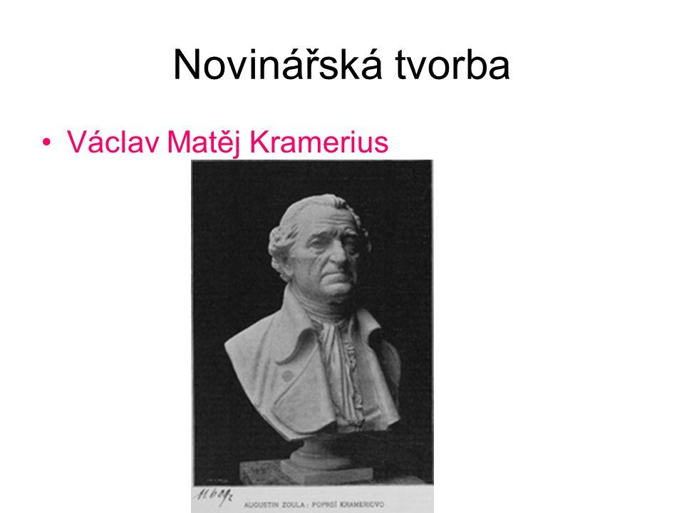Novinářská tvorba Václav Matěj Kramerius