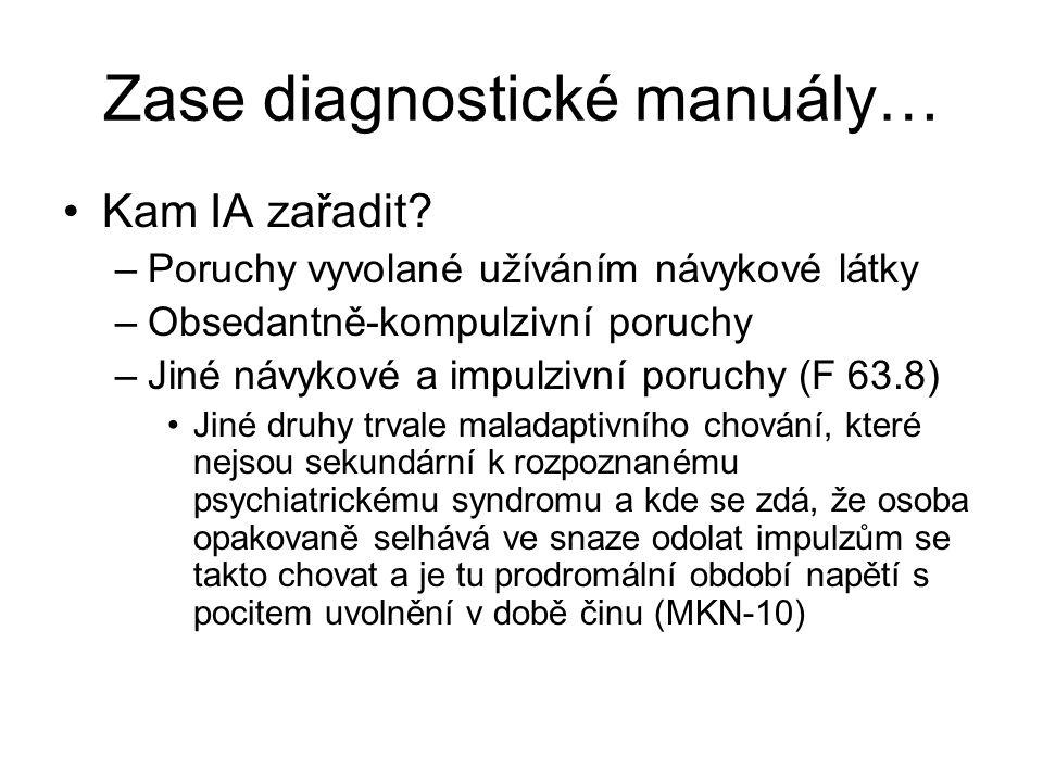 Zase diagnostické manuály… Kam IA zařadit.