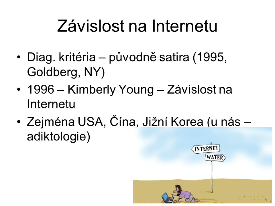 Závislost na Internetu Diag.