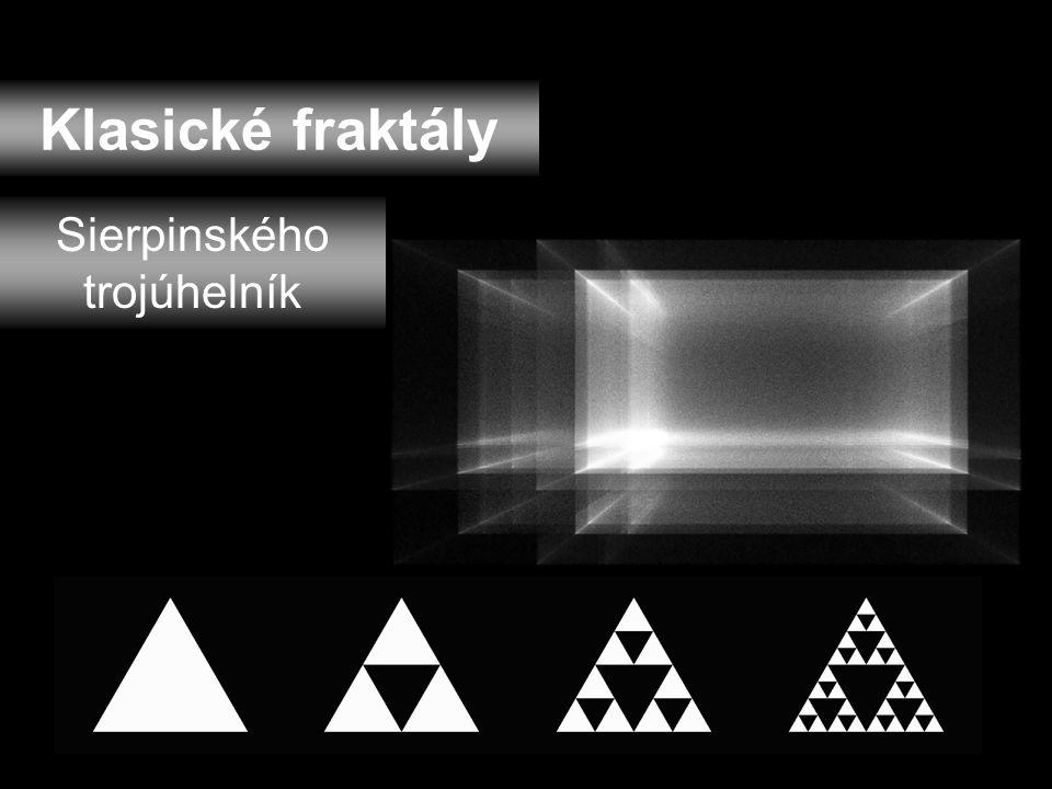 Klasické fraktály Kochova křivka (vločka)
