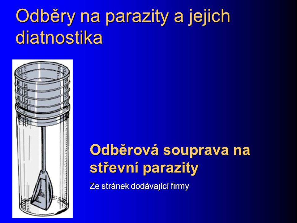 Odběry na parazity a jejich diatnostika Odběrová souprava na střevní parazity Ze stránek dodávající firmy