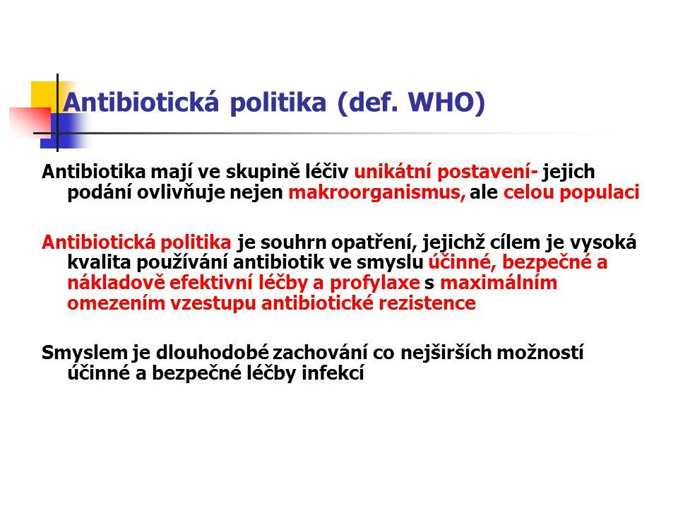 Antibiotická politika (def.