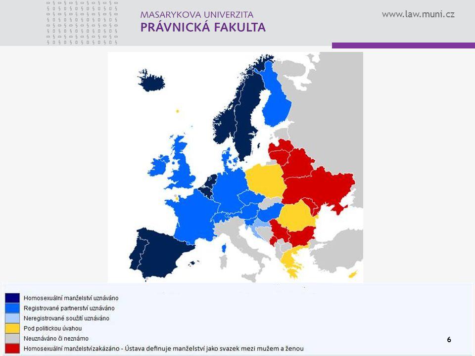 www.law.muni.cz 17 JINÁ VYŽIVOVACÍ POVINNOST Manželství NE Registrované partnerství NE Nesezdané soužití příspěvek na výživu a úhradu některých nákladů neprovdané matce (§ 95 ZOR)