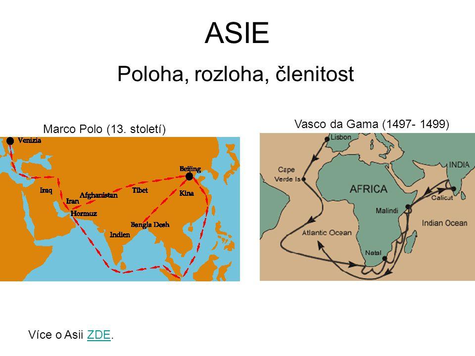 Poloha Na kterých polokoulích se rozkládá Asie (zakresli do náčrtku Země).