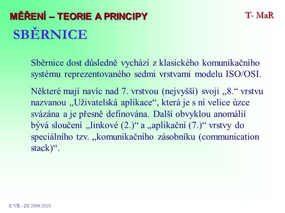 Sběrnice dost důsledně vychází z klasického komunikačního systému reprezentovaného sedmi vrstvami modelu ISO/OSI.