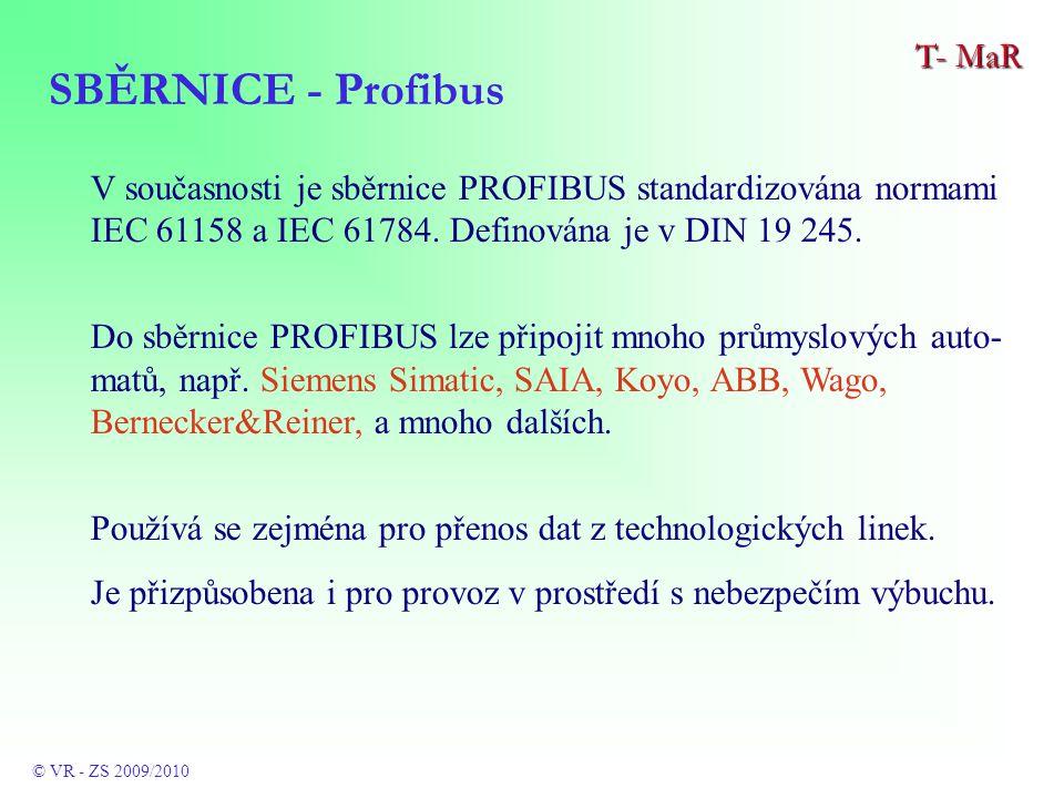 V současnosti je sběrnice PROFIBUS standardizována normami IEC 61158 a IEC 61784.