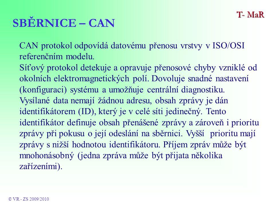 CAN protokol odpovídá datovému přenosu vrstvy v ISO/OSI referenčním modelu.