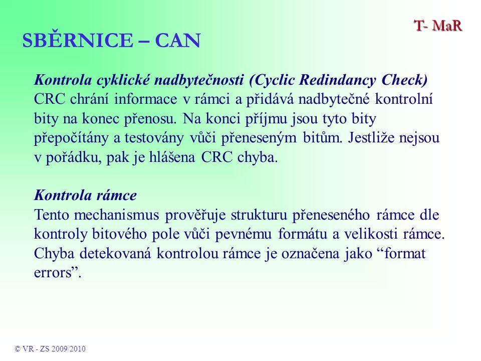 Kontrola cyklické nadbytečnosti (Cyclic Redindancy Check) CRC chrání informace v rámci a přidává nadbytečné kontrolní bity na konec přenosu.