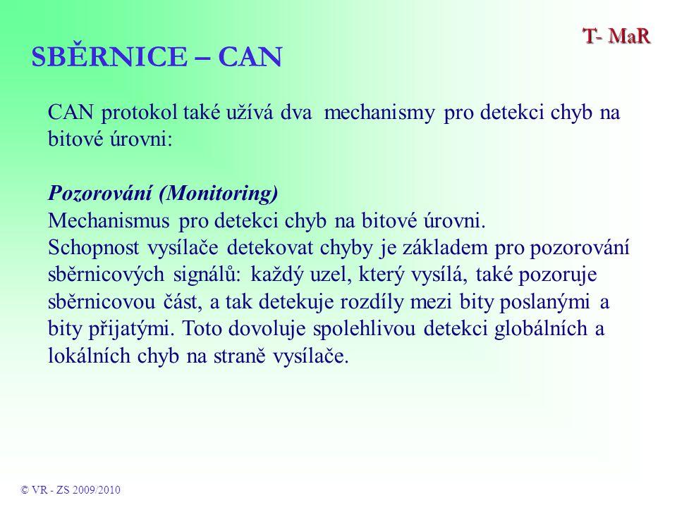 CAN protokol také užívá dva mechanismy pro detekci chyb na bitové úrovni: Pozorování (Monitoring) Mechanismus pro detekci chyb na bitové úrovni.